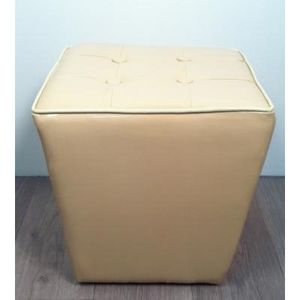 International Design - pouf trapèze - couleur - beige - Pouf