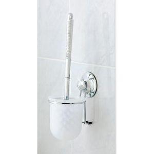 EVERLOC - support brosse wc toilette ventouse - Serviteur Wc