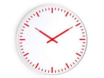 KIKKERLAND. - horloge murale ultra plate rouge et blanc - Horloge Murale