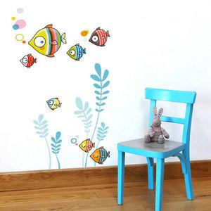 SERIE GOLO - la famille bubulles - Sticker Décor Adhésif Enfant