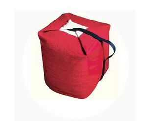 ROOM 2A - cube rouge  - Pouf