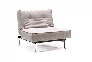 INNOVATION - fauteuil design splitback gris convertible lit 115 - Fauteuil Bas