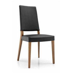 Calligaris - chaise sandy en simili cuir noir de calligaris - Chaise
