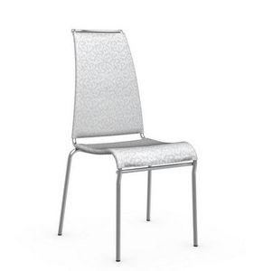 Calligaris - chaise italienne air high en tissu arabesque color - Chaise