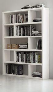 TemaHome - dublin 10 casiers bibliothèque étagère laquée blan - Bibliothèque
