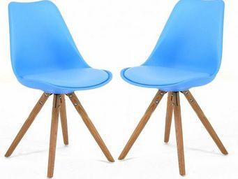 ID'CLIK - chaise design cross (lot de 2) - Chaise