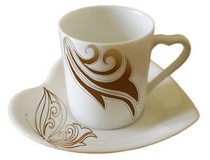PORCELAINE CLAUDIE FRANEL - paire tasse coeur - Tasse � Caf�