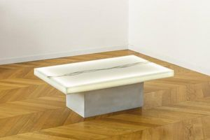 ANTOINE DE MESTIER -  - Table Basse Lumineuse