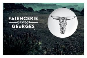 FAÏENCERIE GEORGES - CAROLE DUMONT -  - Assiette Plate