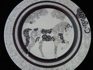 FRANCOISE VIALARD -  - Assiette Plate