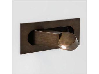 ASTRO LIGHTING - applique encastrable digit led interrupteur bronze - Applique