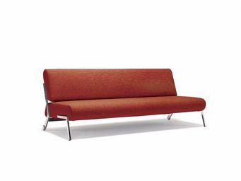 INNOVATION - canap� lit design debonair rouge orange convertibl - Banquette Clic Clac