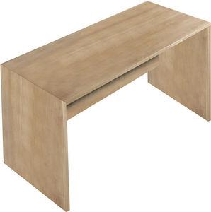 WHITE LABEL - bureau 120 cm en bois coloris chêne noyer - Bureau