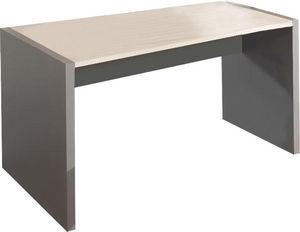 WHITE LABEL - bureau 140 cm en bois coloris gris et chêne clair - Bureau