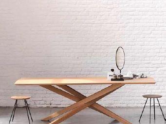 Ethnicraft - mikado - Table De Repas Rectangulaire