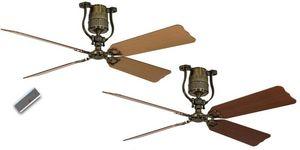 EVT/ Casafan - Ventilatoren Wolfgang Kissling - ventilateur de plafond vintage moteur laiton pales - Ventilateur De Plafond