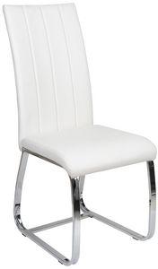 COMFORIUM - chaise de table simili cuir blanc - Chaise
