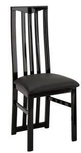 COMFORIUM - lot de 2 chaises noires ultra design - Chaise