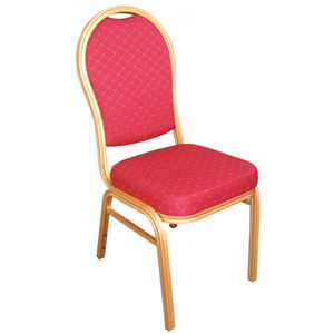 COMFORIUM - lot de 4 chaises de banquet coloris rouge à dossie - Chaise