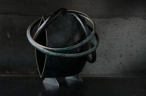 ELIE HIRSCH - blue man - Sculpture