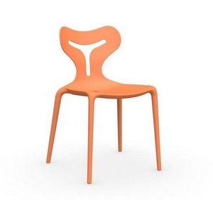 Calligaris - chaise empilable area 51 de calligaris orange - Chaise