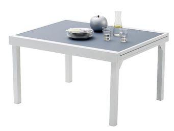 WILSA GARDEN - table jardin modulo 135-270cm blanc/gris perle - Table De Jardin