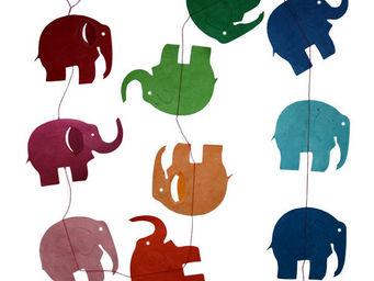 Lamali - guirlande originale colorée éléphant - Guirlande Enfant