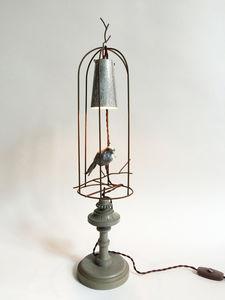 VIEUBLED BENOÎT - ethan cage cristal - Lampe À Poser
