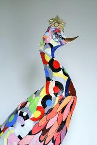 ARTBOULIET - coq art - Sculpture Animalière