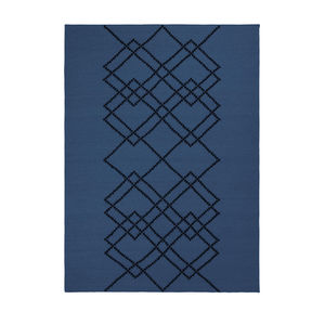 LOUISE ROE COPENHAGEN - borg #04 royal blue - Tapis Contemporain