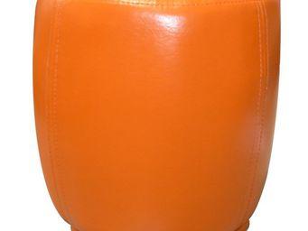 Cotton Wood - pouf tonneau orange - Pouf