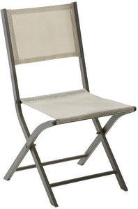 WILSA GARDEN - chaise pliante modulo (lot de 2) taupe - Chaise De Jardin Pliante