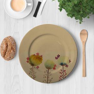 la Magie dans l'Image - assiette 3 poppies - Assiette De Présentation