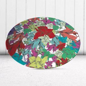 la Magie dans l'Image - assiette fleurs - Assiette De Présentation