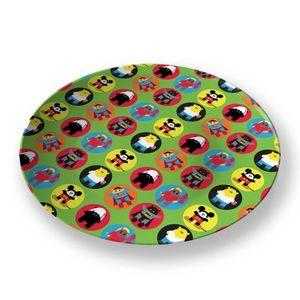 la Magie dans l'Image - assiette heros pattern vert petit - Assiette De Présentation