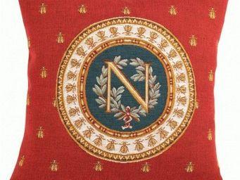 Art De Lys - napoléon, fond rouge - Coussin Carré