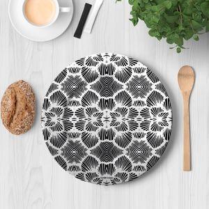 la Magie dans l'Image - assiette réseau floral blanc - Assiette De Présentation