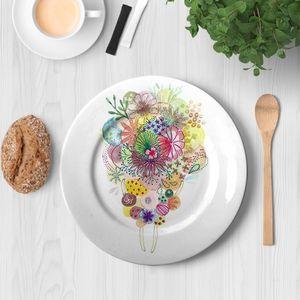 la Magie dans l'Image - assiette un bouquet - Assiette De Présentation