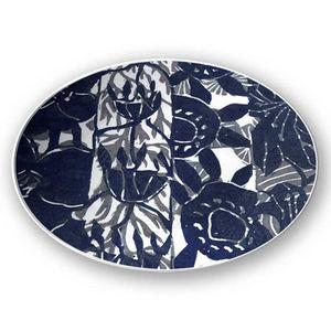la Magie dans l'Image - assiette végétal gris foncé - Assiette De Présentation