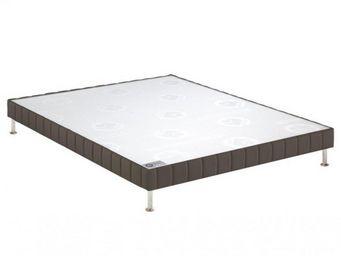 Bultex - bultex sommier tapissier confort ferme taupe 140* - Sommier Fixe À Ressorts