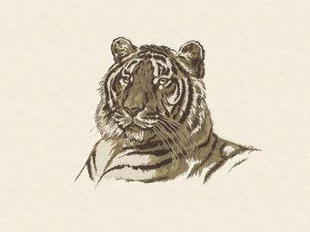 HERMES / DEDAR - croquis de tigre - Tissu D'ameublement