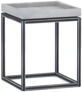 ZAGO - bout de canapé en béton allégé et métal tray - Bout De Canapé