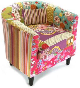 VERSA - fauteuil patchwork bohème - Fauteuil