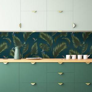 PAPERMINT - jungle bleu canard - Papier Peint