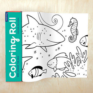 BERTOY - coloring roll under the sea - Cahier De Coloriage