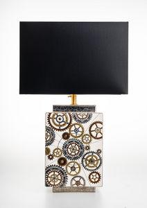 EMAUX DE LONGWY 1798/FRAGRANCE - engrenages - Lampe À Poser