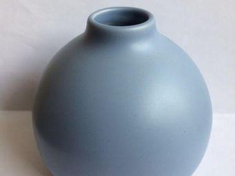 Drake - vase boule bleu pour diffuseur de parfum - Vase À Fleurs