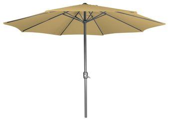 CEMONJARDIN - parasol droit beige - Parasol Télescopique