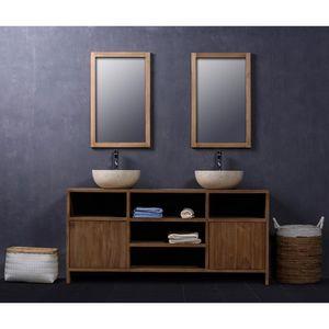 BOIS DESSUS BOIS DESSOUS - meuble de salle de bain en bois de teck 160 - Meuble De Salle De Bains