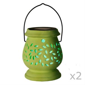 Best Season - clay lantern - Lampe De Jardin